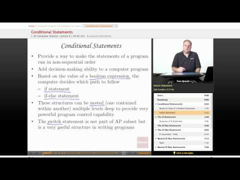 AP Computer Science: Conditional Statements