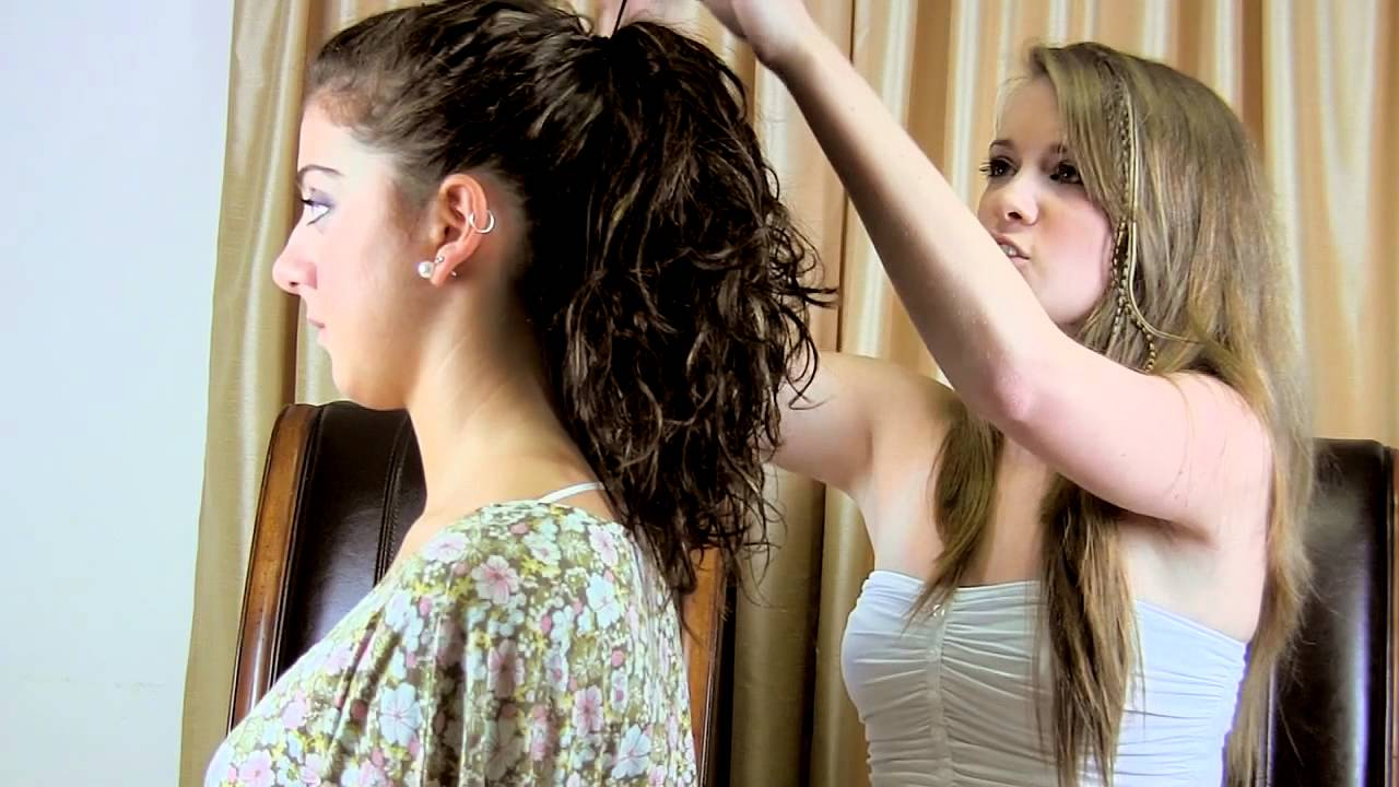 Ponytail Hairstyles Tutorial with Feathers - YouTube