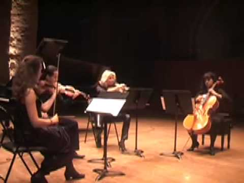 Thierry Huillet Yuan Fen, String Quartet (3rd movement Zhujiaojiao) live