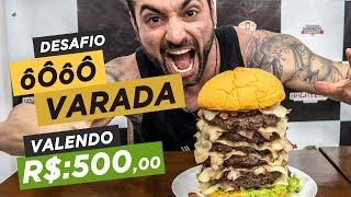 7 pound burger challenge!! Tons of Meat! 130 USD prize