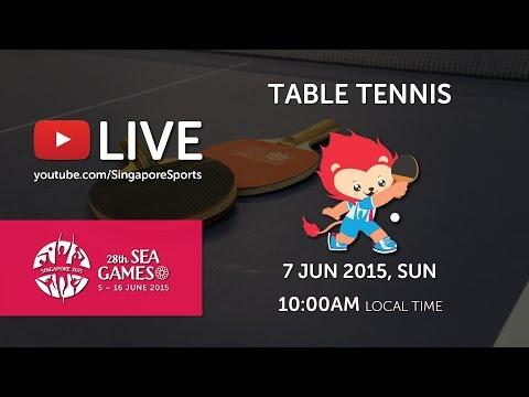 Table Tennis Men's Team Singapore vs Malaysia   28th SEA Games Singapore 2015