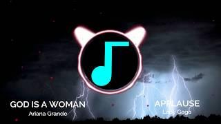 God is a woman x Applause - Nightcore Mashup // Lyrics | xXNightcoreReleasesXx