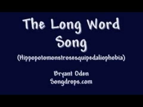 The Long Word Song (Hippopotomonstrosesquipedaliophobia)