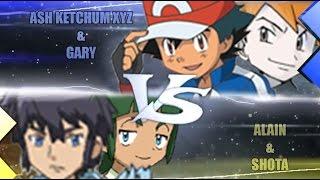 Pokemon Omega Ruby & Alpha Sapphire [ORAS]: Ash and Gary Vs Alain and Sa (Kanto Vs Kalos)