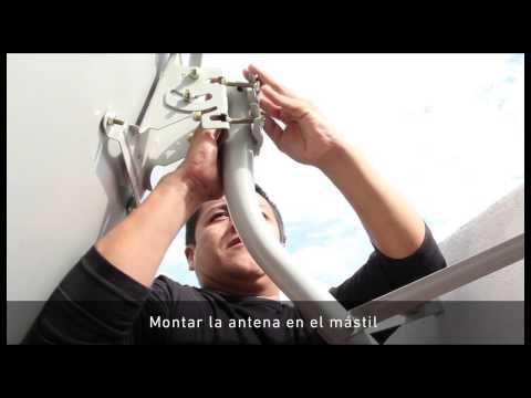 Instalación del kit satelital TDA