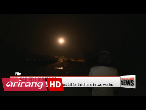 DAY BREAK 06:00 N. Korea's ballistic missile launches fail for third time in two weeks