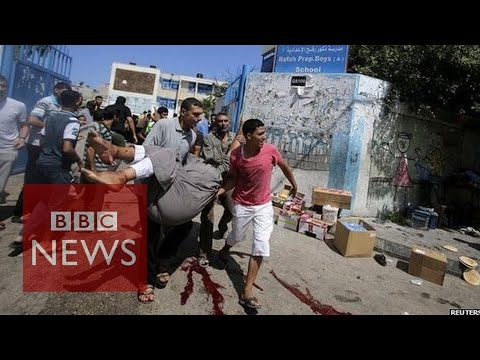Gaza crisis: Deadly strike outside UN school in Rafah - BBC News