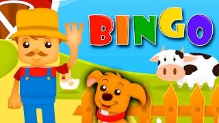 BINGO Nursery Rhyme Kids Songs Club Children's Sing Songs B I N G O Was His Name O Dog Song Clapping