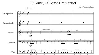 O Come, O Come Emmanuel - for Brass Quintet - Arr. Clark Cothern (1957 -  ) [BMI]