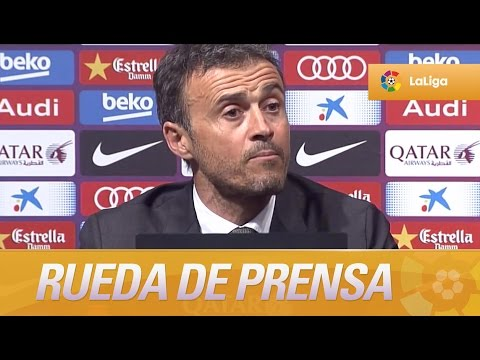 Rueda de prensa de Luis Enrique tras el FC Barcelo