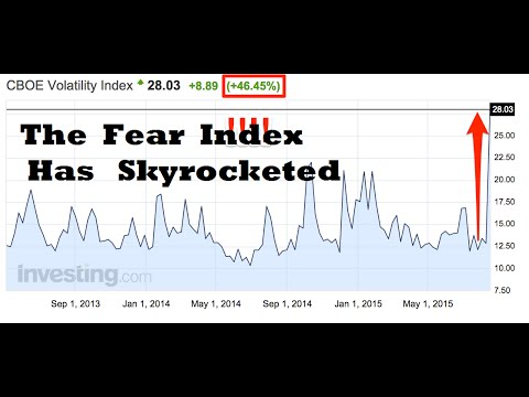 The Fear Index Skyrockets 46.45% As Global Stock Markets Melt Down!!!