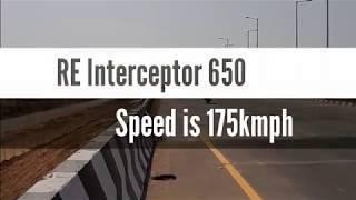 Top speed of RE Interceptor 650