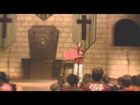 Preteen Girl Sharing The Gospel video