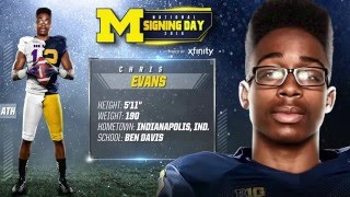 Chris Evans Highlights - Michigan Signing Day 2016