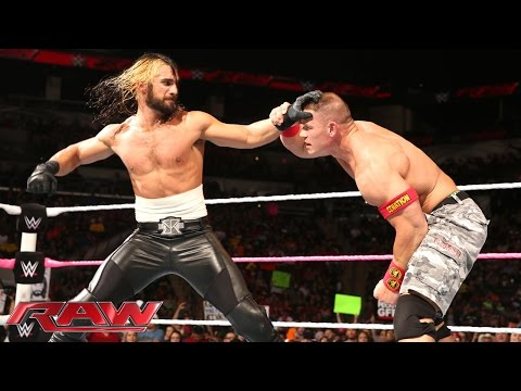 John Cena Vs. Seth Rollins: Raw, October, 27, 2014 video