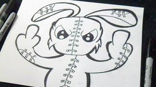 comment dessiner un lapin graffiti kharasachcom - Dessin Graffiti