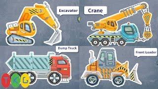 Lắp ráp Xe xúc đất, Máy ủi đất, Xe cần cẩu, Xe tải | Kids Pluzzle Construction 5 | TKG