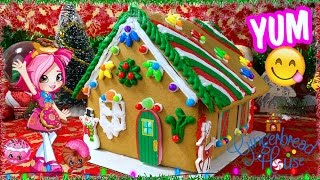 Gingerbread House Making With Shopkins Shoppie Donatina