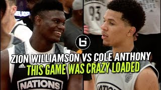 Zion Williamson VS Cole Anthony! Game Was Dumb Loaded At Adidas Nations