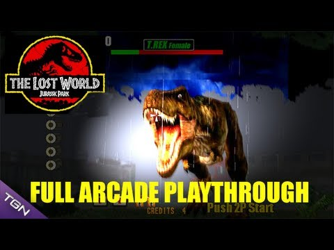 The Lost World: Jurassic Park Arcade Game - Full Playthrough (Sega Arcade Classic)