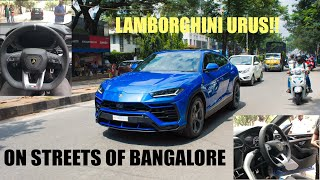Owner allowed us to sit inside a LAMBORGHINI URUS!! INDIA | SUPERSUV |