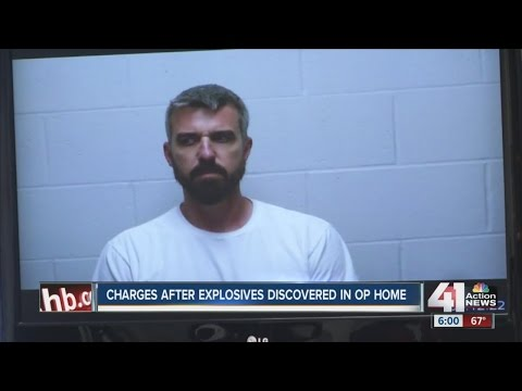 Charges after explosives discovered in Overland Park home