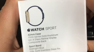 Unboxing: Apple Watch Sport 42mm Gold/Midnight Blue
