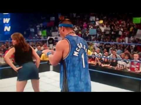 Stephanie Mcmahon Has Ass Tapped By John Cena video