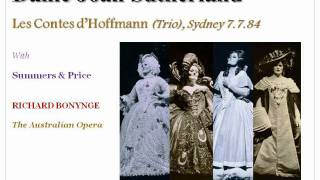 Dame Joan Sutherland sings the Trio from Les Contes d