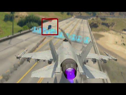Lazer Jet vs Motor Bike (GTA 5 Funny Moments)