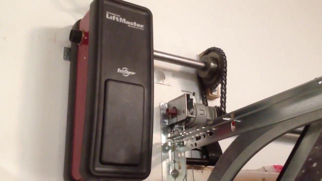 Liftmaster 3800 On Wayne Dalton Torque Tube Youtube