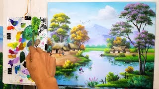 Dạy Vẽ Tranh Đồng Quê (Bài 2 /P2). Khóa học vẽ tranh phong cảnh miễn phí cho ace mới bắt đầu.