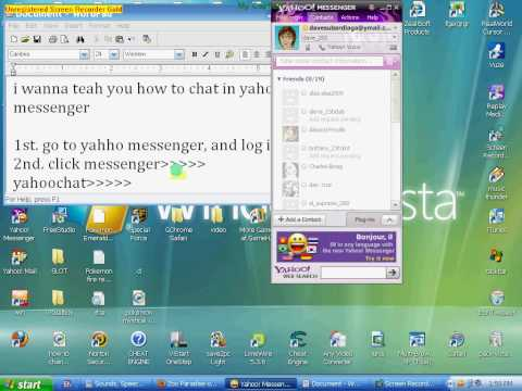 how to chat in yahoo messenger.avi