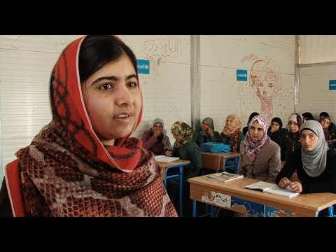 Jordan: Malala Visits Za'atari Refugee Camp