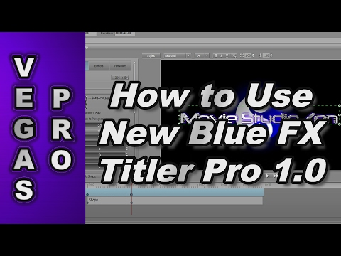 How to use New Blue Titler Pro 1.0 with Sony Vegas Pro 12