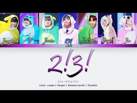 BTS (방탄소년단) '2! 3!' (Hoping For More Good Days) - (Hang   Rom   Esp) (COLOR CODED)