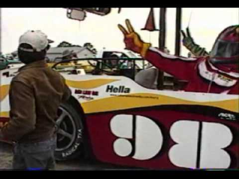 1998 12 Hours of Sebring - The eventual winner of the race, a 333SP Ferrari, spins late in the race while exiting Turn 11, as seen at 9:16-9:37 in this video...