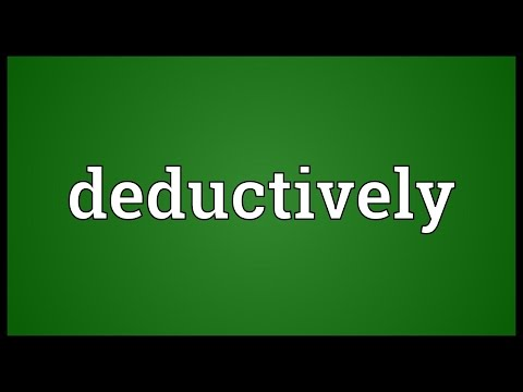 Header of deductively