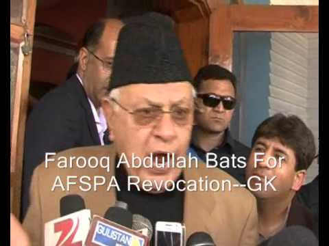 Farooq Abdullah Bats For Revocation Of AFSPA