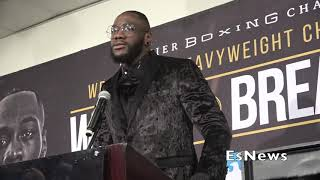 Deontay Wilder Victory Speech Right After Crazy KO EsNews Boxing