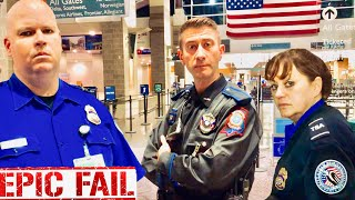 (Must See!) TSA Humiliation : CRAZY airport FAIL!!! MULTIPLE walks of SHAME!!! 1st amendment audit