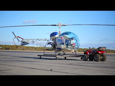 Bell 47 / H13 helicopter review and flight