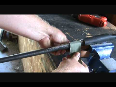 Mosin Nagant Custom Sniper Rifle mosin nagant chatter removal and barrel smoothing.wmv