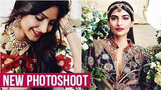 Sonam Kapoor Dresses As A Bride In A New LATEST Photoshoot