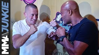 Anderson Silva, Georges St-Pierre face off in Las Vegas