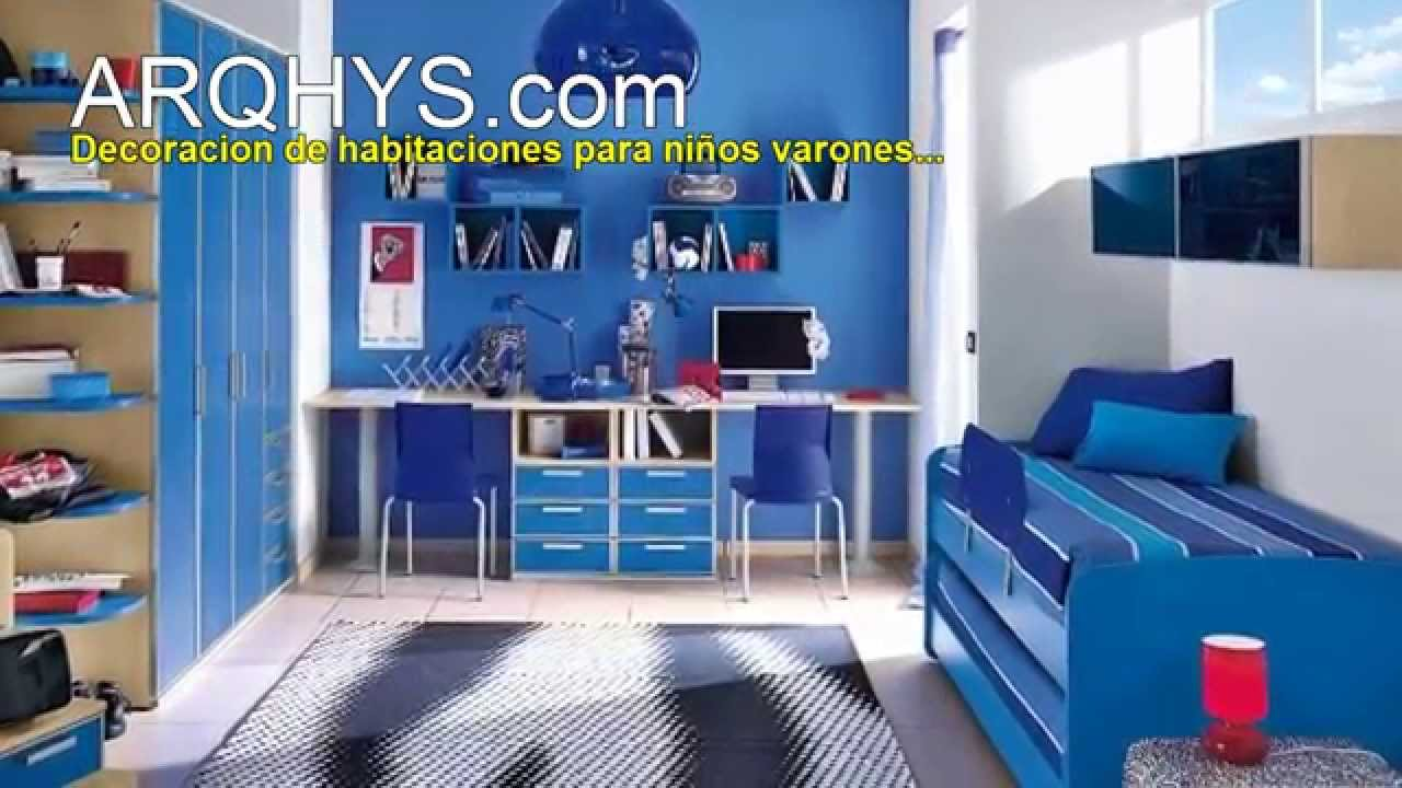 Decoracion de habitaciones para ni os varones youtube for Como decorar habitaciones de ninos