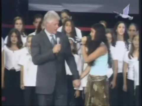 President Bill Clinton Sings John Lennon's Imagine