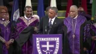 Obama Sings Omazing Grace