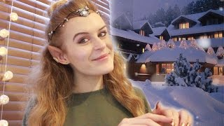 ❄ ASMR Christmas lodge check in roleplay