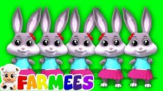 Con thỏ ngón tay gia đình   vườn ươm vần điệu   Finger Song   Rabbit Finger Family